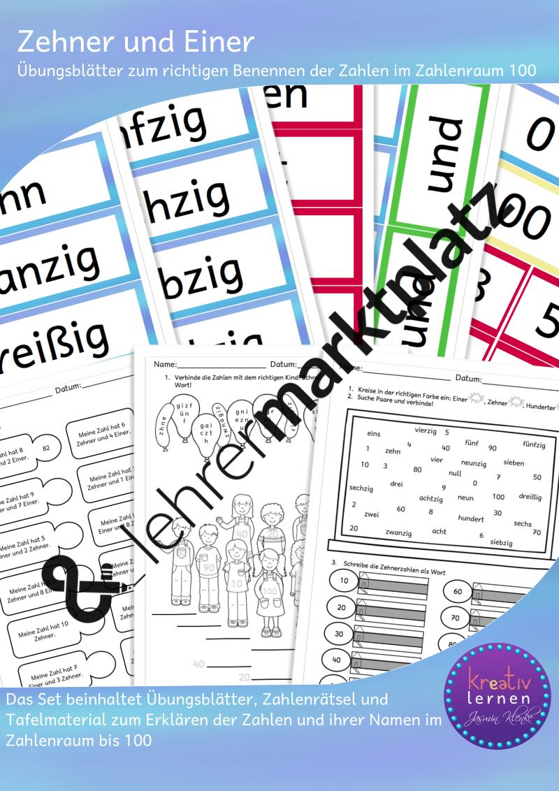 Zahlen im Zahlenraum 100 richtig benennen – DaZ / DaF, Mathematik ...