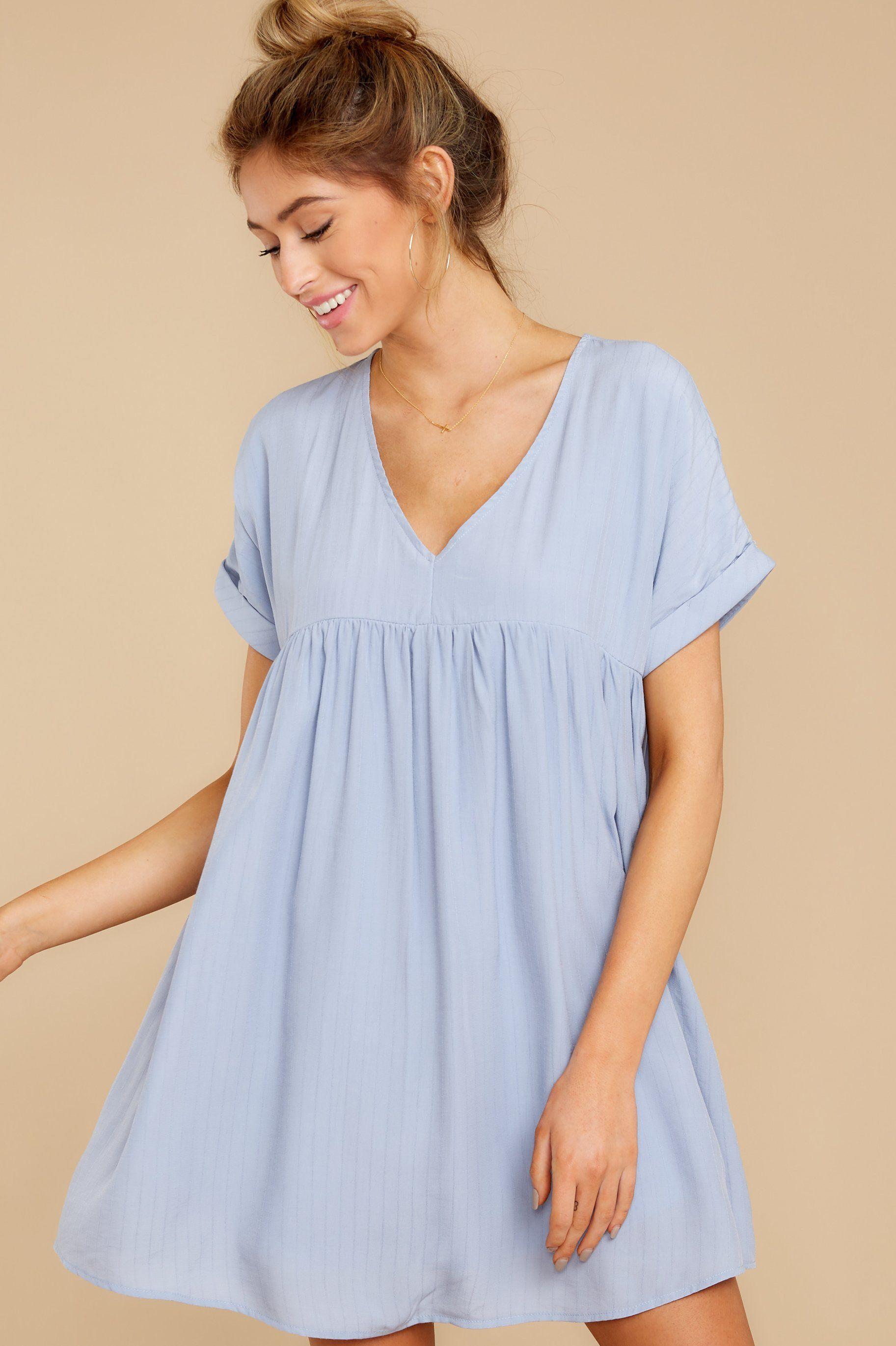 Dainty Blue Dress Babydoll Striped Short Dress Dress 44 00 Red Dress Dusty Blue Dress White Print Dress Blue Dresses [ 2738 x 1825 Pixel ]