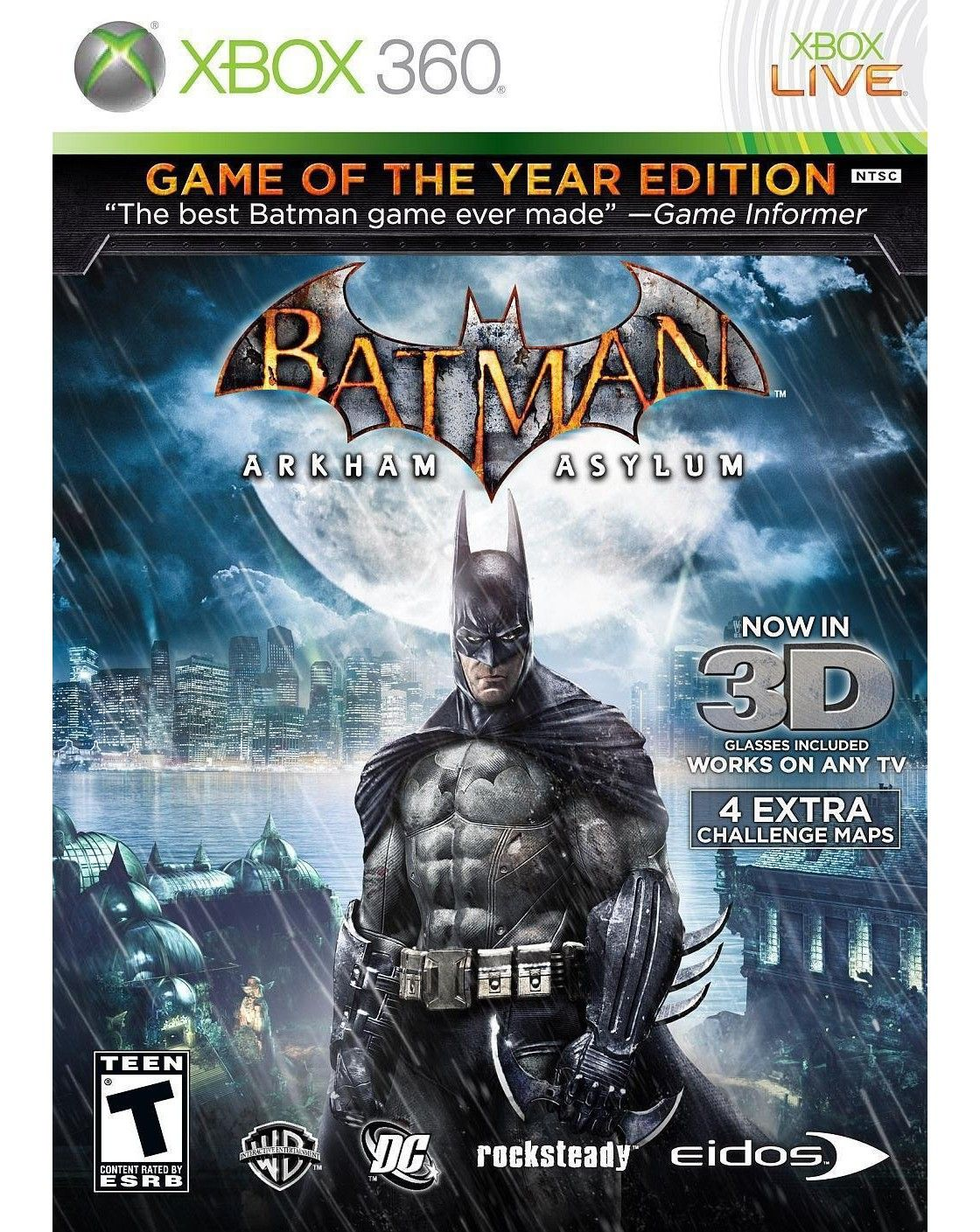 Batman Arkham Asylum Game Of The Year Edition Xbox  The - Minecraft xbox 360 los angeles map download
