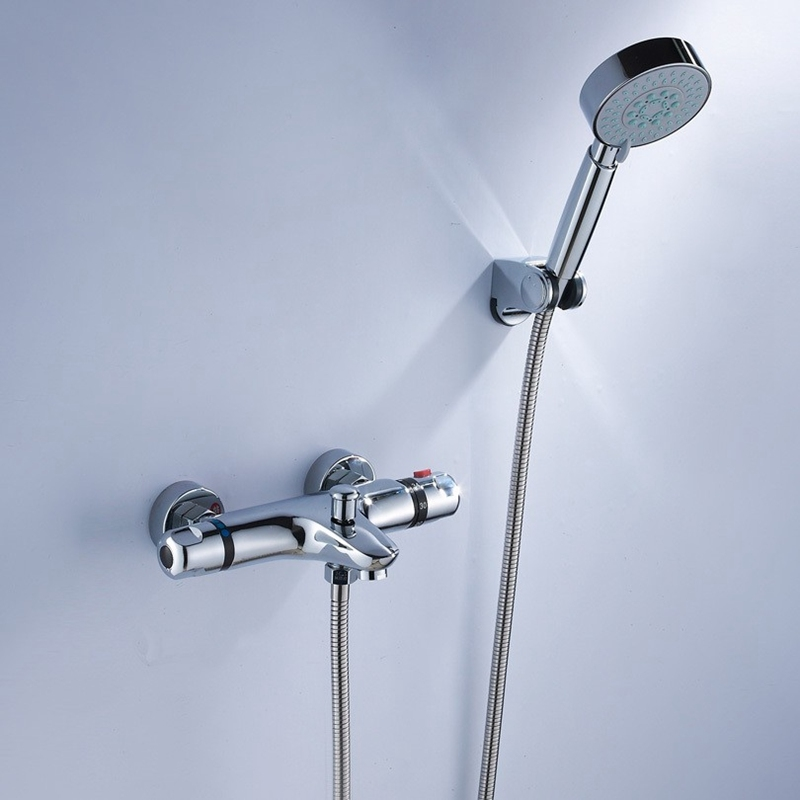84 56 Watch Now Bathroom Shower Water Thermostatic Control Valve Mixer Faucet Tap Wall Mounted Bath Shower Shower Faucet Sets Shower Faucet Bathtub Faucet