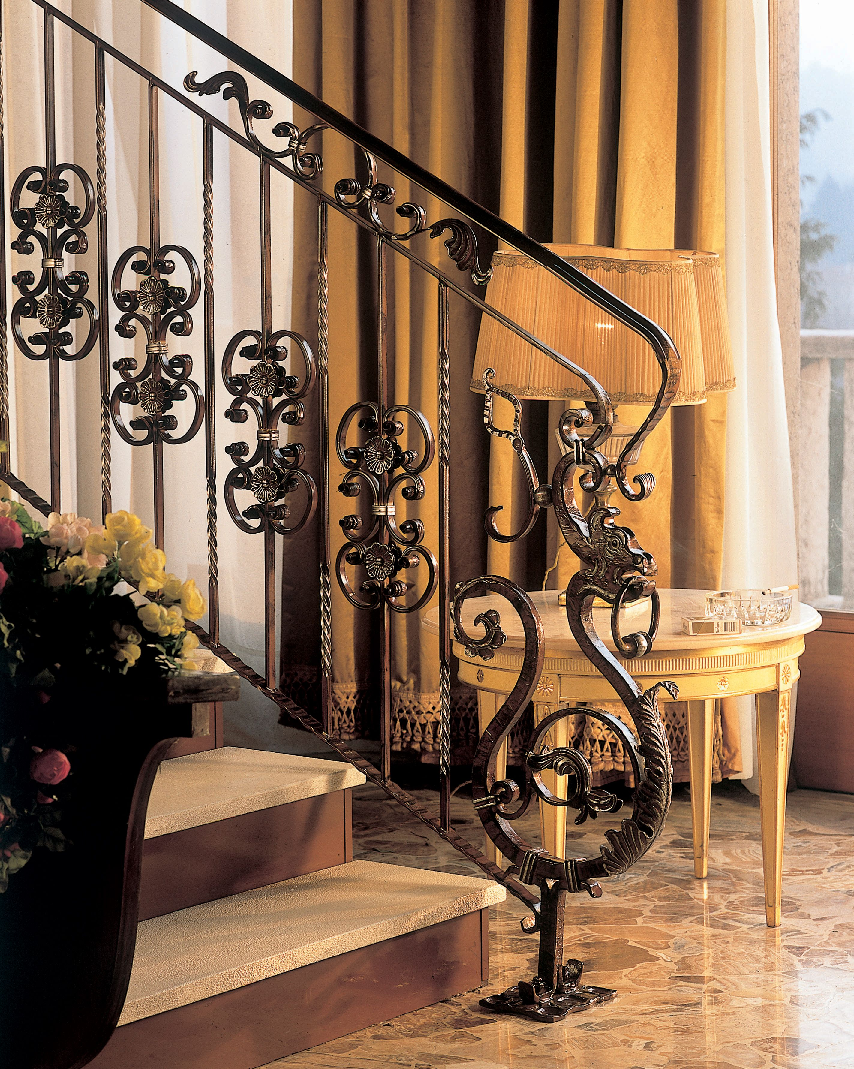 Best Our 488 A Wrought Iron Newel Post In Application Wrought 640 x 480