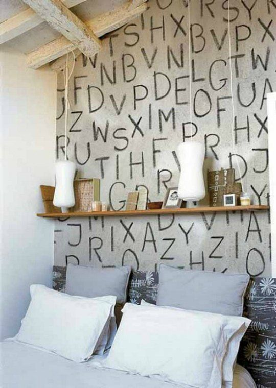 Decorar La Pared Del Cabecero Con Letras Bedroom Ideas Pinterest - Decorar-pared-cabecero