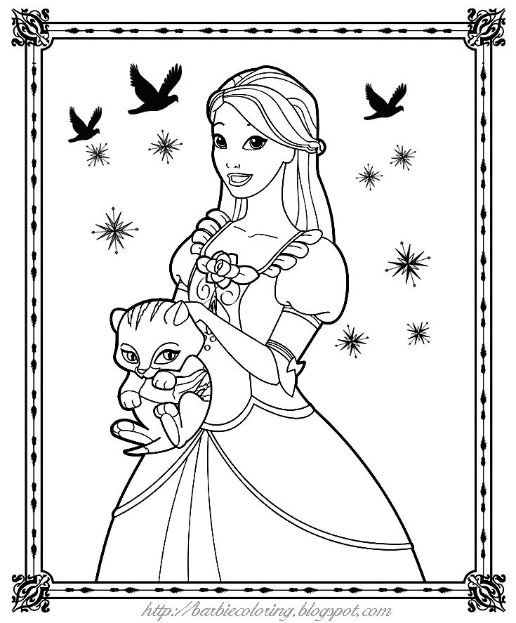 Barbie And Twyla Coloring Page Jpg 735 887 Barbie Coloring Pages Birthday Coloring Pages Mermaid Coloring Pages