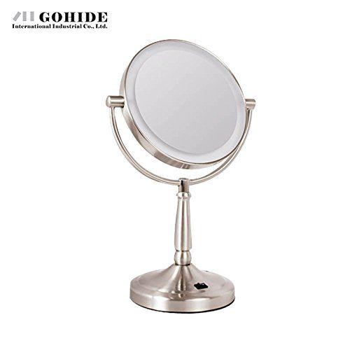 plug in vanity mirror lights. Gohide Luxuray 7 Inch Led Screen PlugIn Battery With Light Vanity Mirror  Double Faced Makeup Desktop