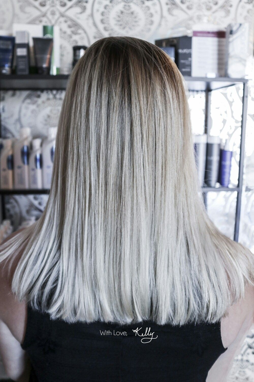 So pretty this icey blonde platinum hair Maribou Spa Salon