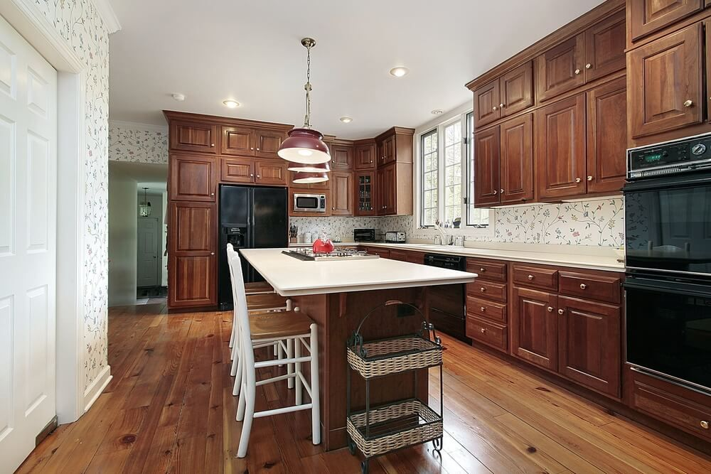 43 Kitchens With Extensive Dark Wood Throughout Kitchen Cabinets