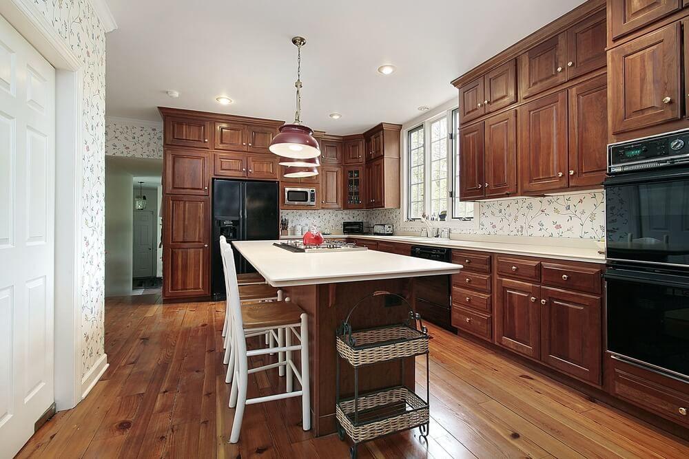 Best 43 Kitchens With Extensive Dark Wood Throughout Kitchen 640 x 480