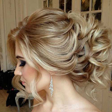 Curly Messy Updo Full Bun Hair Extensions Ash Blonde Mix