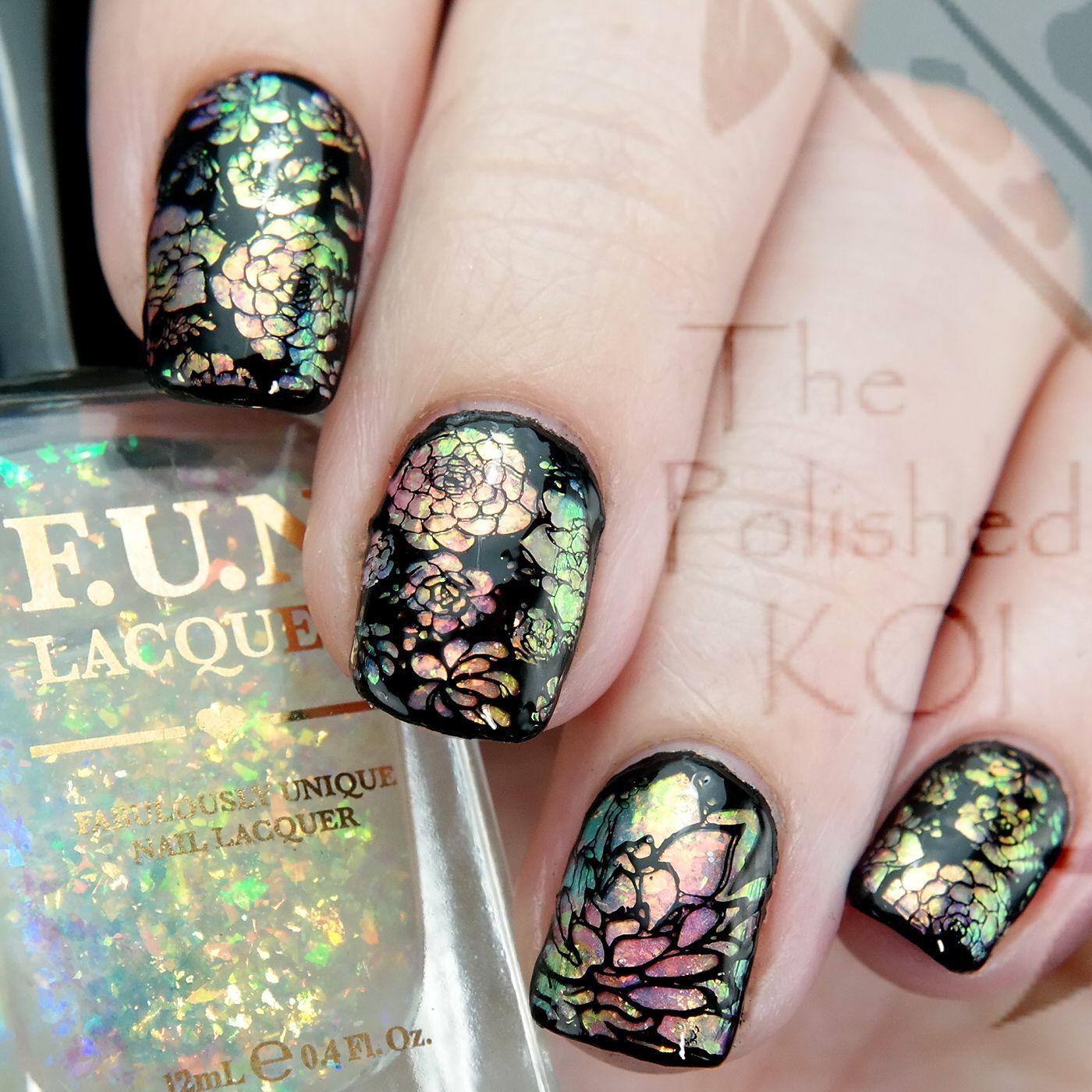 Rainbow Opal Nail Art - The Polished Koi | Nail design | Pinterest ...