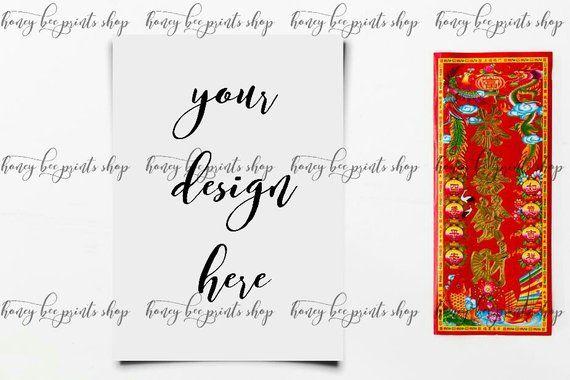 Chinese New Year, Product Templates, Paper Mockup, Card Mockup ...