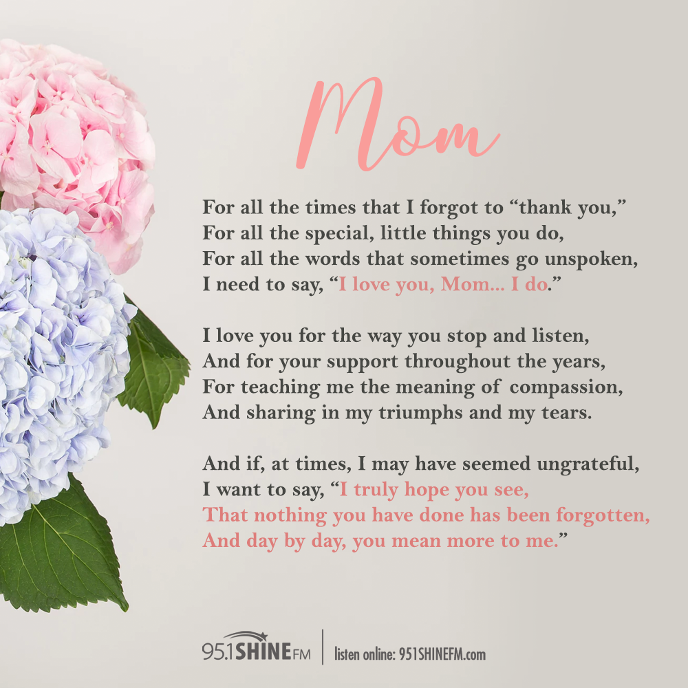 A Poem For Mom For Mother S Day Happy Mother Day Quotes Mom Poems Mothers Day Quotes See more ideas about mom poems, inspirational quotes, quotes. happy mother day quotes mom poems
