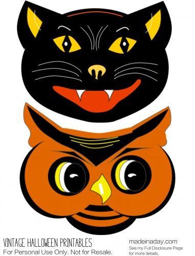 Vintage Halloween Printables Cat