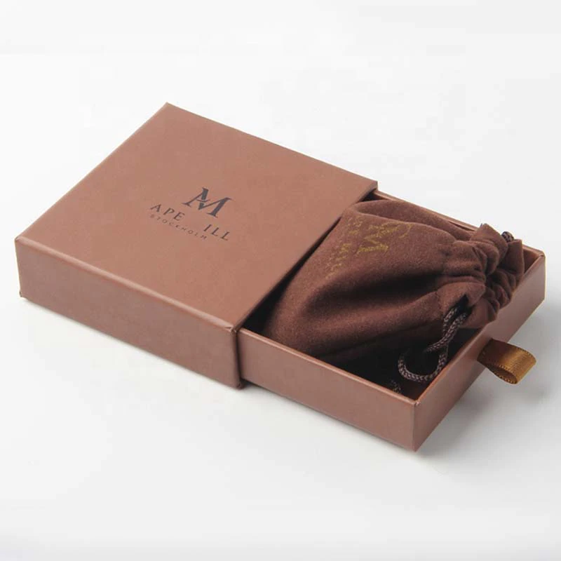 500pcs/lot custom cardboard paper sliding gift pull out drawer box printed logo jewelry box and velevt drawestring jewelry pouch-in Jewelry Packaging & Display from Jewelry & Accessories on Aliexpress.com | Alibaba Group