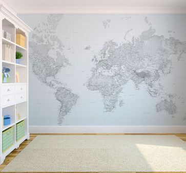 Black and white world map wallpaper eclectic wallpaper london black and white world map wallpaper eclectic wallpaper london wallpapered gumiabroncs Images
