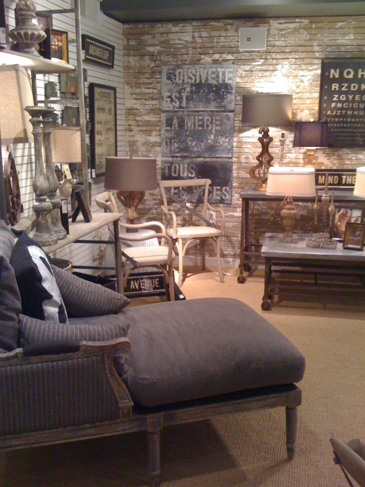 Industrial French Chic Love This Interior Design Rustic French Lovely Living French industrial living room