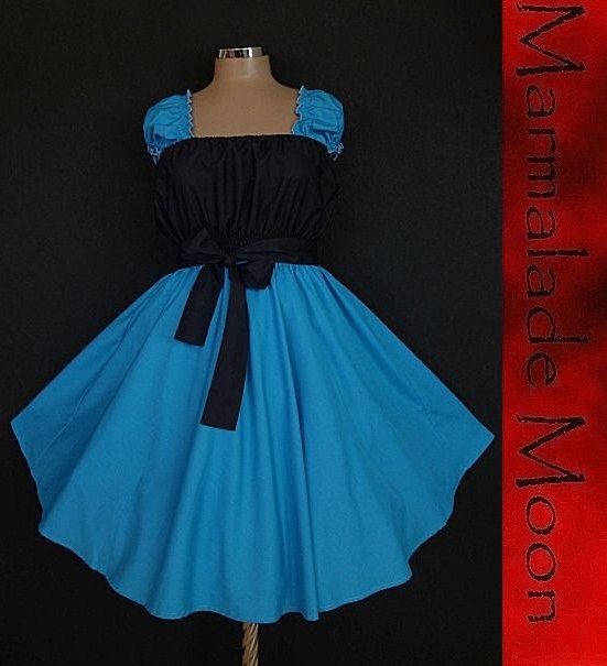 40s 50s RockaBilly swinG TurquoiSe Black Pin Up DresS Plus Size 20 ...