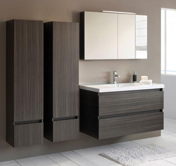 Un ensemble en bois sombre pour une salle de bain �l�gante. -Sanijura #sanijura #salledebain  #meubledesalledebain #bathroom #bathroominspo #interieur #interiordesign  #noir