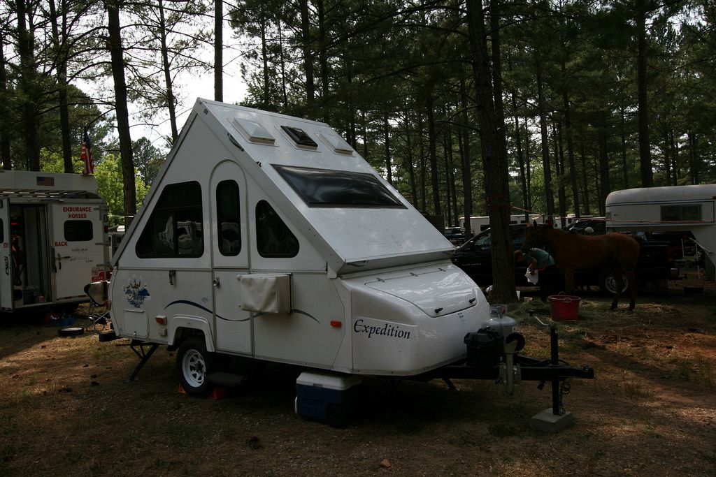 pop up a frame campers combine portability with a rigid sided design