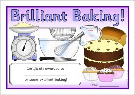 Baking certificates sb9570 sparklebox cookbookprint baking certificates sb9570 sparklebox yadclub Gallery