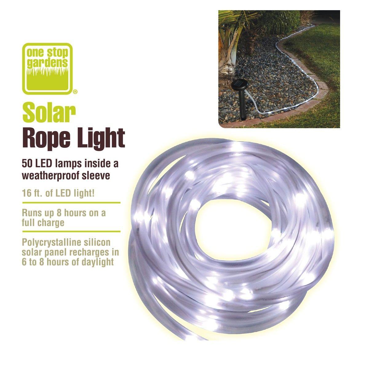 Solar rope light rope lighting homestead gardens and gardens solar rope light mozeypictures Images
