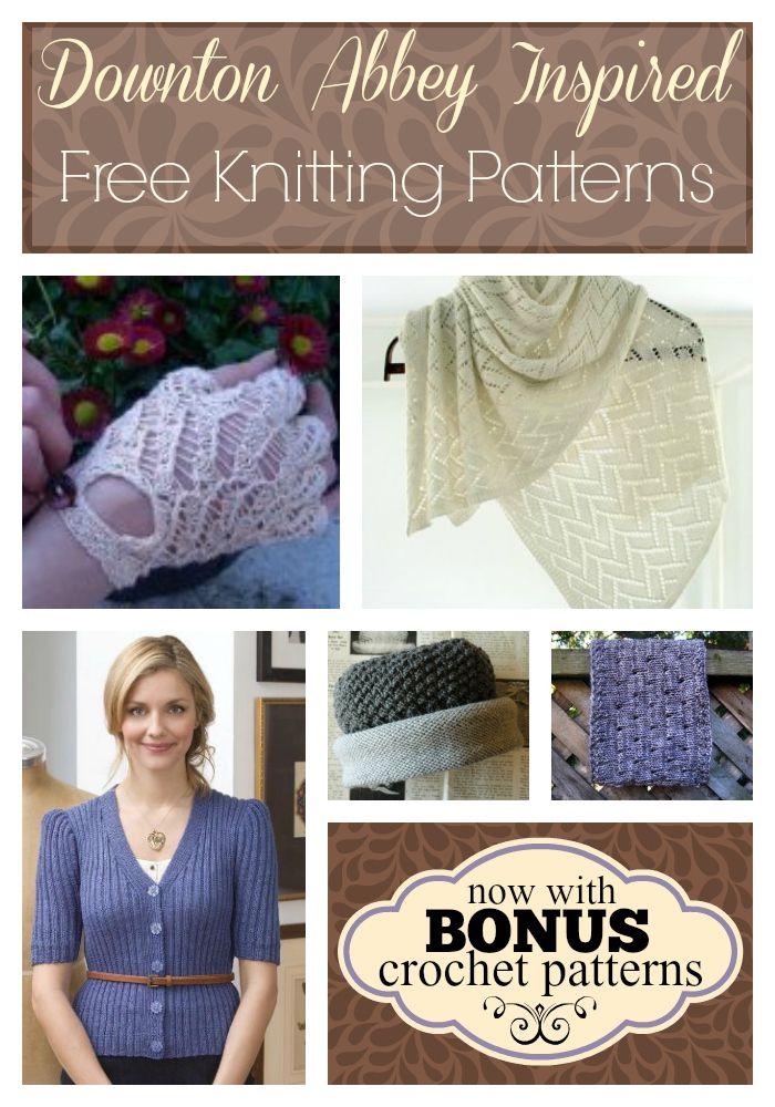 5 Downton Abbey Inspired Knitting Patterns | Knit patterns, Downton ...