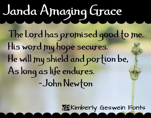 Janda Amazing Grace Font Kimberly Geswein Fontspace Amazing Grace Best Free Fonts How To Memorize Things