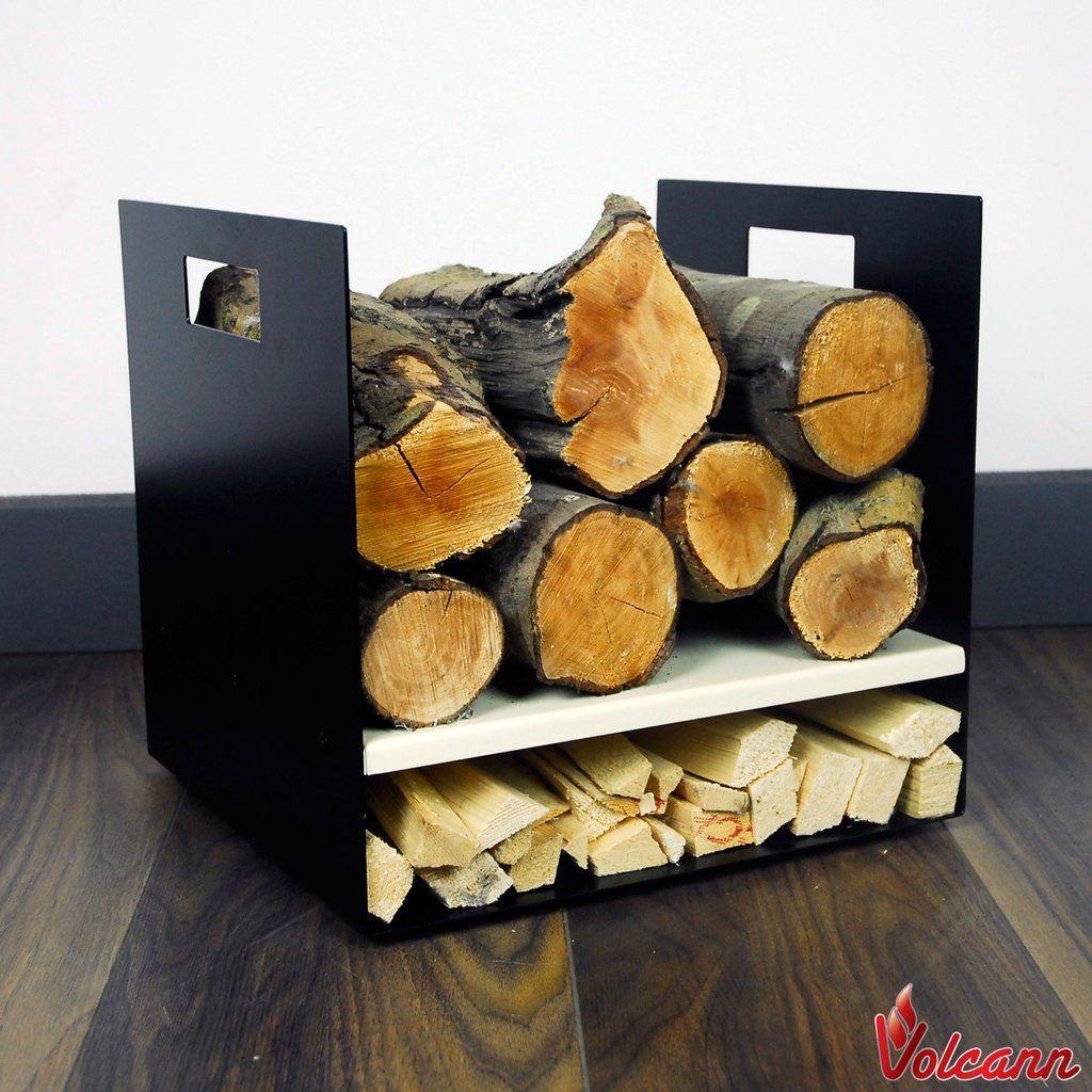 Modern firewood log basket carrier for woodstove fireplace wood holder pastel range