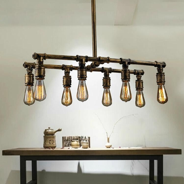 Pendant lamps led industrial pipes retro chandelier creative loft pendant lamps led industrial pipes retro chandelier creative loft american country pub bar lighting lamps bedroom living room lights aloadofball Image collections