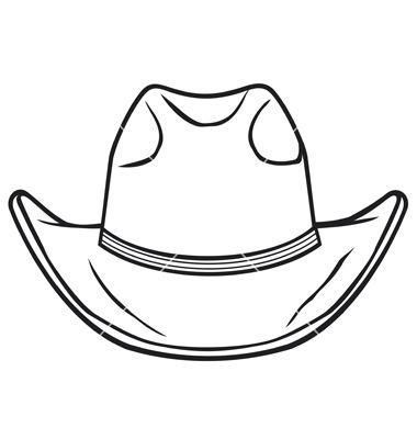 Cowboy Hat Vector On Vectorstock Cowboy Hats Hat Clipart Cowboy