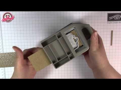 ▶ Tutorial: Ritter Sport Verpackung mit gewellter Anhängerstanze von Stampin' Up! - YouTube