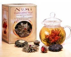Flowering Tea Glass Teapot and Blosso...