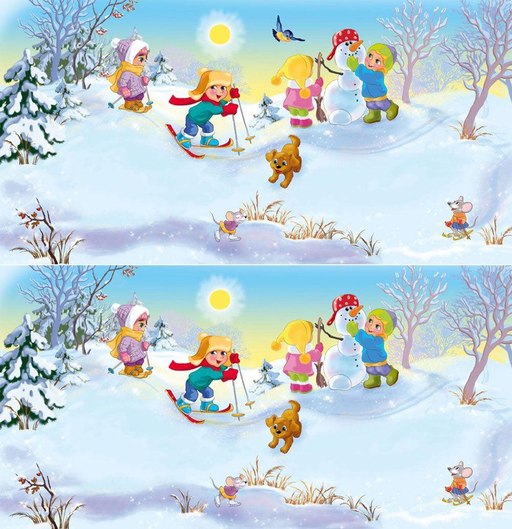 Зимние головоломки для детей | Learning Tools | Pinterest | Hidden ...