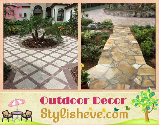 Garden Paths and Walkways Ideas With Decorative Outdoor Lighting