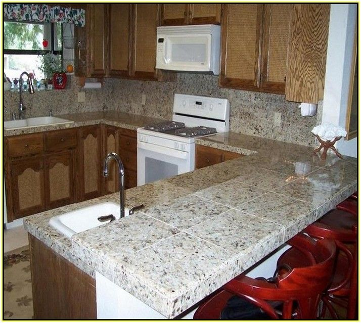 Ceramic Tile Kitchen Countertops Designs Cocinas Pequenas