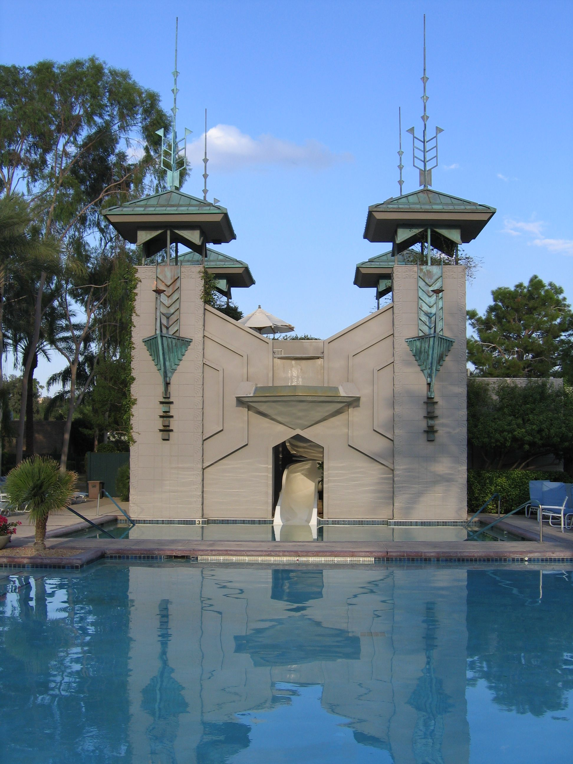 Pool At The Arizona Biltmore Hotelphoenix 1929 Frank Schematic Lloyd Wright Design Architect Albert Chase Mcarthur Project