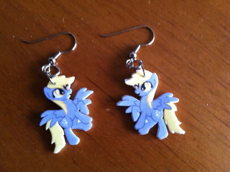 My Little Pony Derpy Hooves Shrinky Dink Earrings by sitakatherine, $10.00