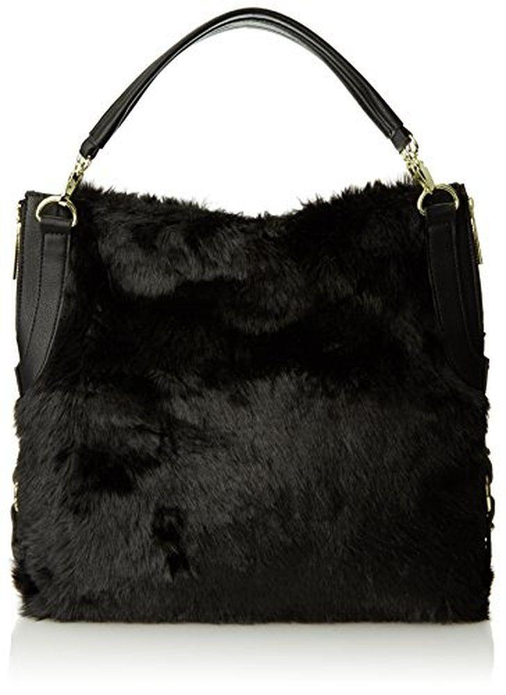 shoulder bags: olivia joy ST Monica Double Shoulder Bag,Black Fur,One Size ||| ||| ||| olivia joy ST Monica Double Shoulder Bag,Black Fur,One Size :shoulder bags