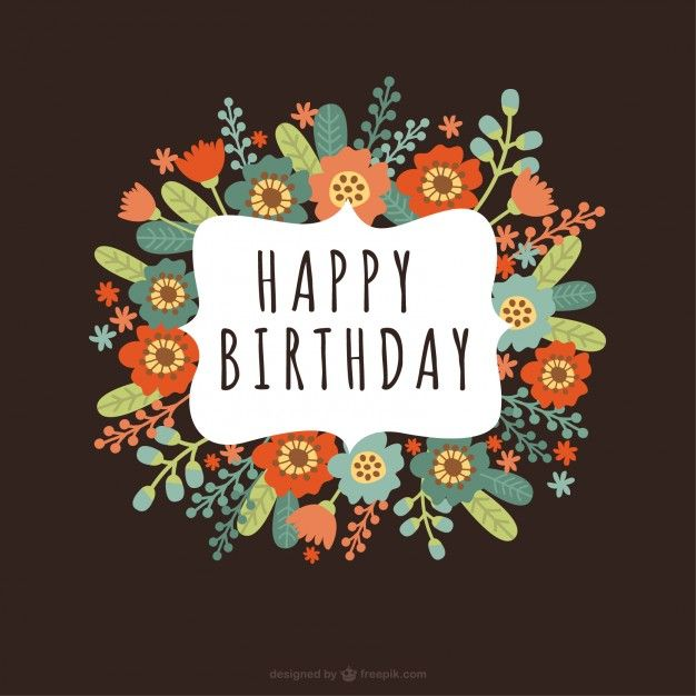 Floral birthday card birthday cardsposts pinterest birthdays floral birthday card bookmarktalkfo Image collections