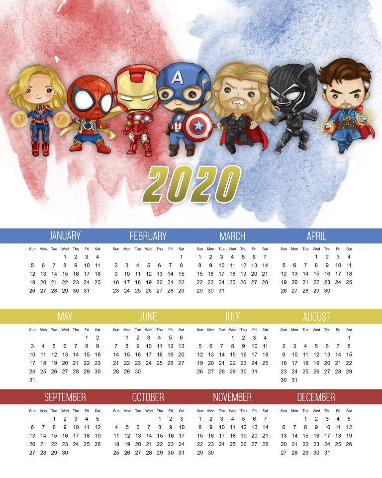 Los Vengadores Calendario 2020 Para Imprimir Gratis Oh My Fiesta Friki Calendario Para Imprimir Gratis Imprimir Sobres Calendarios Con Fotos