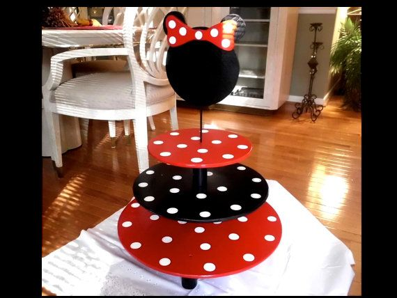 MINNIE MOUSE Cupcake Stand Large 3 Tier by CupcakeStandsCouture, $120.00