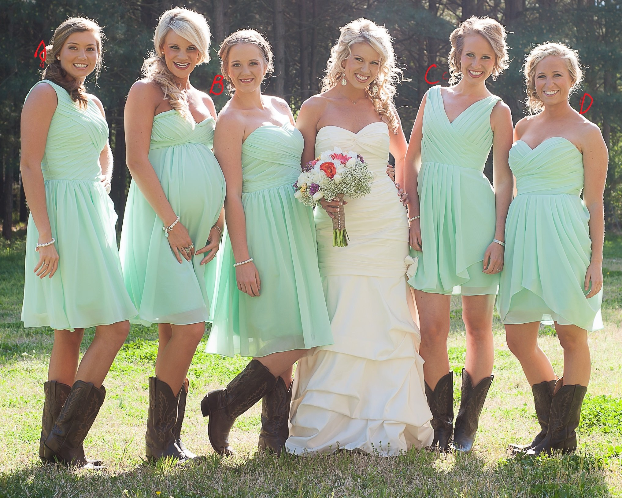 Summer Rustic Country Mint Green Mismatched Chiffon Short Bridesmaid Dresses With Boots Gdc1508 In 2021 Country Bridesmaid Dresses Summer Bridesmaid Dresses Beach Bridesmaid Dresses [ 1631 x 2034 Pixel ]