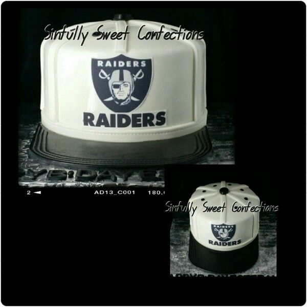 Raiders Cake Decor : Oakland Raiders Cap Cake Sinfully Sweet Confections ...