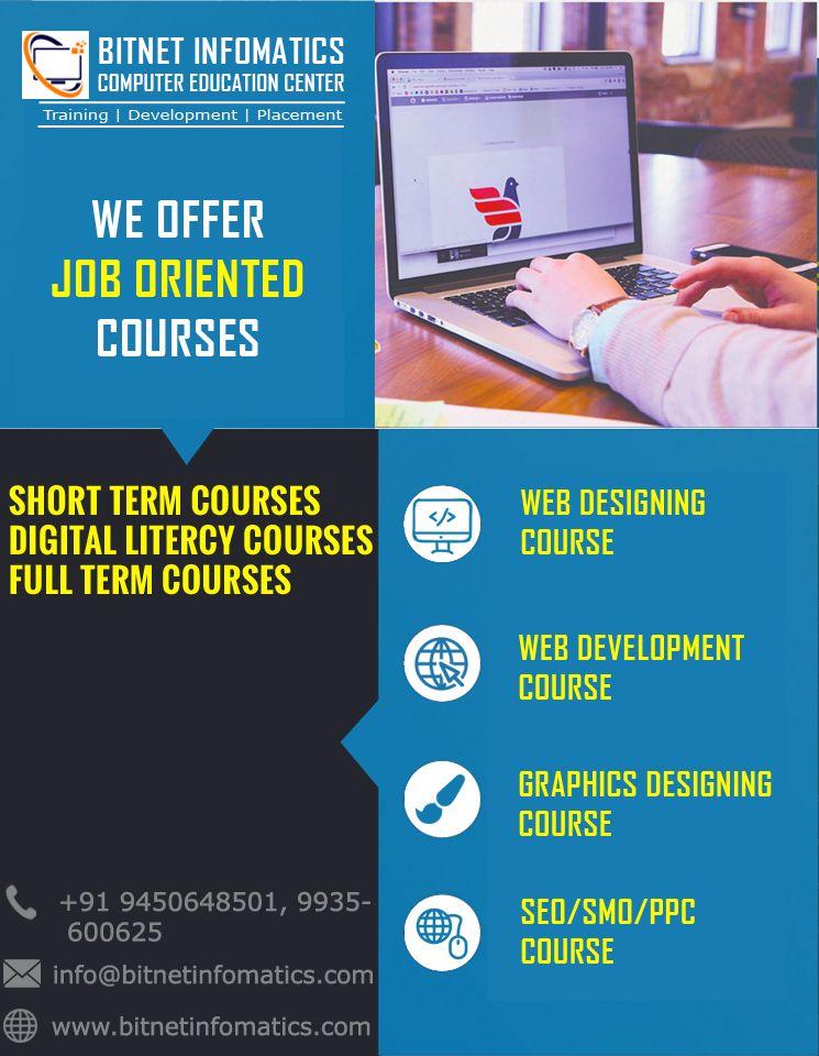 Bitnet Infomatics Provide Certificate Website Development Training Institute In Lucknow And After Web Development Course Computer Education Teaching Standards