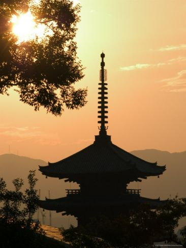 Sunset, Yasaka No to Pagoda, Kyoto City, Honshu, Japan