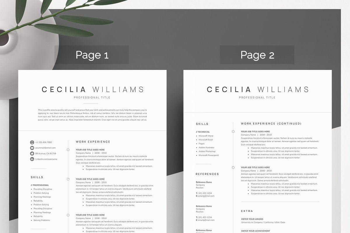 Clean Modern Resume Template Modern resume template