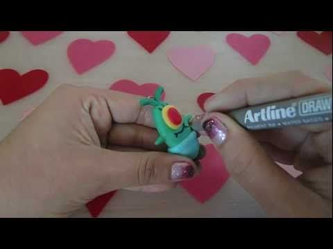 Baby Plankton Tutorial Cold porcelain/ Polymer Clay