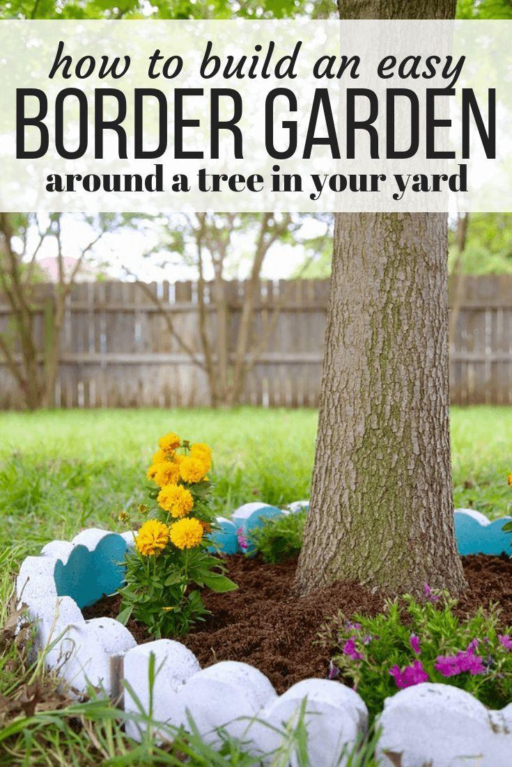 Photo of DIY Tree Border Garden | Love & Renovations