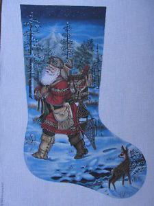 Mountain Man Men Santa Needlepoint Stocking Liz Alice Peterson Tapestry Tent : tapestry tent needlepoint christmas stockings - memphite.com