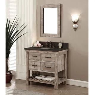 Rustic Style Dark Limestone Top 36inch Bathroom Vanity