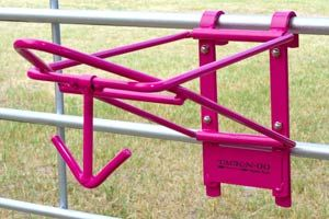 Fold Down Saddle And Bridle Rack In Pink And Black From